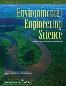 Environmental Engineering Science journal cover